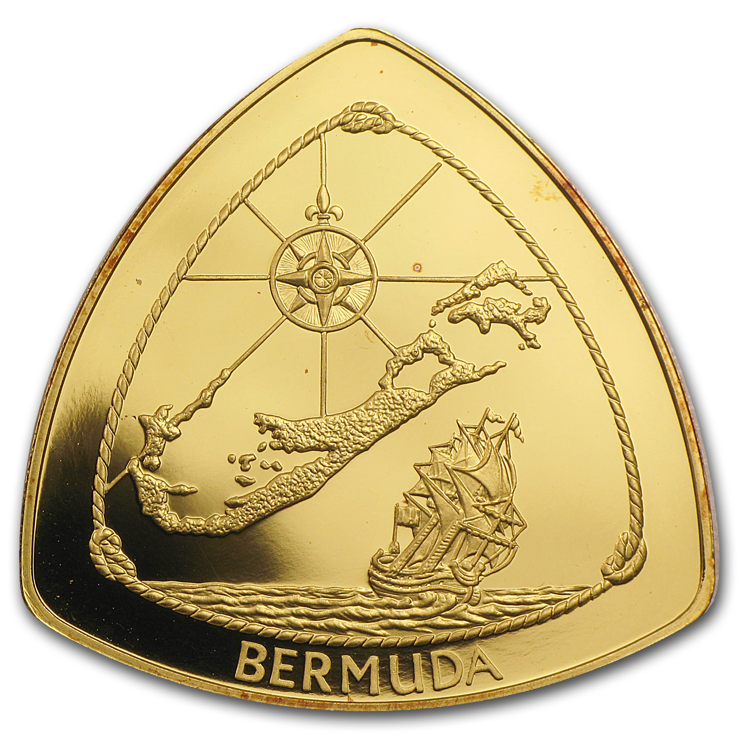 1996-1998 Bermuda Proof Gold $60 Triangle